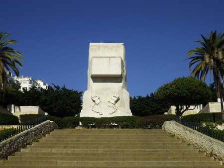 A monument representing freedom that Algerians got, breaking the chain. Stock Photo