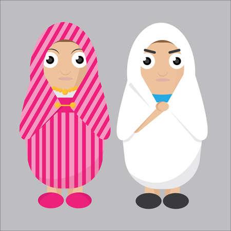 Libische vrouwen vector illustratie. Stock Illustratie