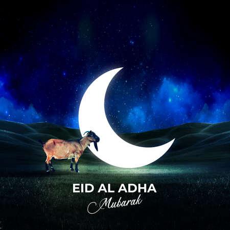 bakrid eid al adha festival greeting background or social media post