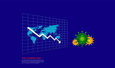 coronavirus Covid-19 epidemic making world economy in serious crisis concept vector Illustration
