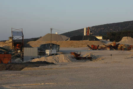 gravel: Gravel pit Stock Photo