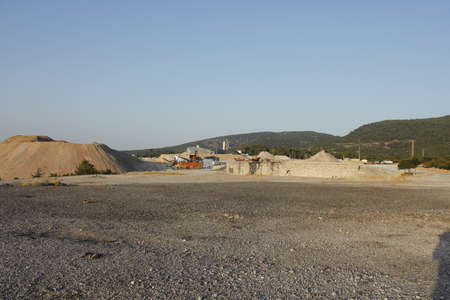 gravel pit: Gravel pit Stock Photo