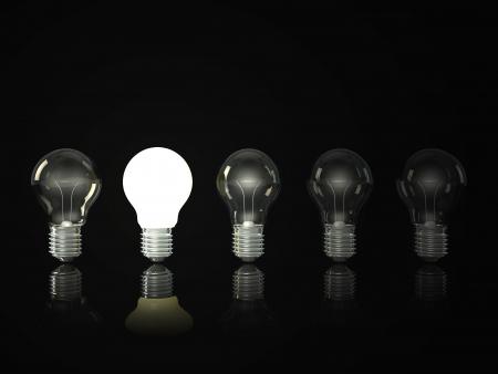light bulb solution concept
