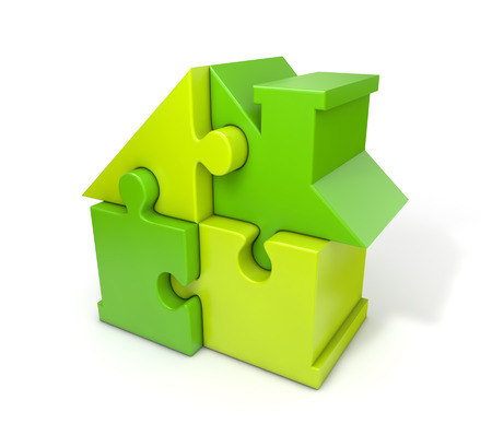 Puzzle house green