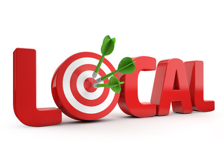 Local search targeting Stockfoto - 30133616