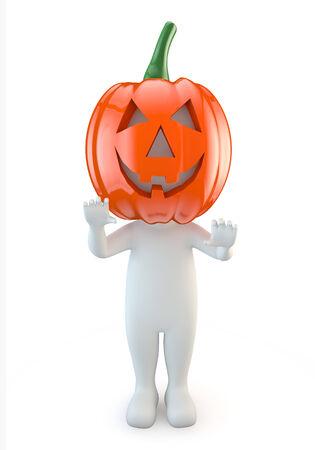 halloween k�rbis: 3D niedlichen Menschen - Halloween-K�rbis