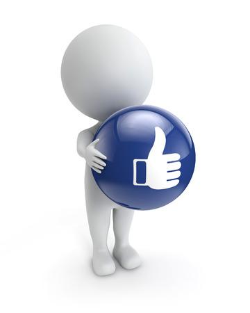 3d cute people- like button Standard-Bild