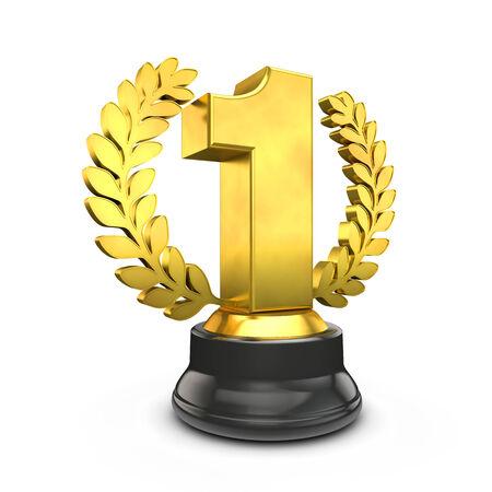 primer lugar: trofeo de oro Foto de archivo