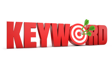 keywords link: keyword target Stock Photo