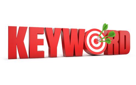 keyword: keyword target Stock Photo