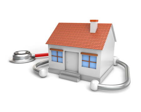 simple house and stethoscope photo