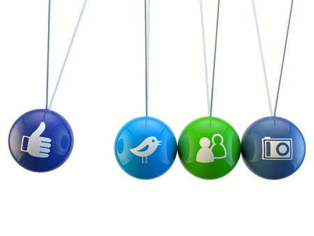 newton cradle: social media newton cradle