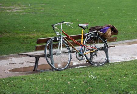 non moving activity: Bicycle Stock Photo