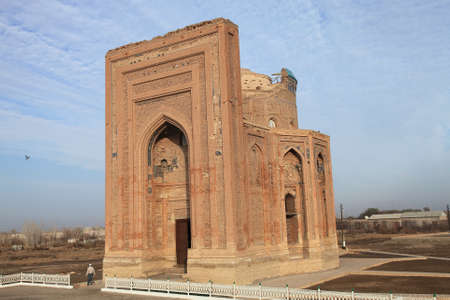 Torebek Hanim Tomb is located in Turkmenistan. Torebek Hanim Tomb was built in the 14th century. Mrs. Torebek is the wife of Emir Timur. The mausoleum is decorated with tiles.