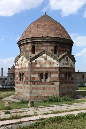 Emir Saltuk Tomb, the Seljuk period, was built in the 12th century. Emir Saltuk Tomb is one of the oldest shrines in Turkey. Erzurum, Turkey. Фото со стока