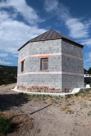 Yagibasan Tomb located in Niksar Castle. The mausoleum was built in the 12th century. Tokat, Turkey.