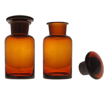 Amber pharmacy bottle