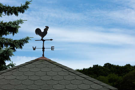 A weather vane, wind vane, or weathercock is an instrument for showing the direction of the wind. It is typically used as an architectural ornament to the highest point of a building.
