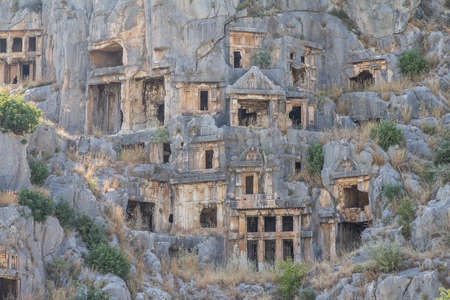 The ancient Rock-cut Tombs of Myra in the Lycia region of Anatolia , modern day Demre, Turkey
