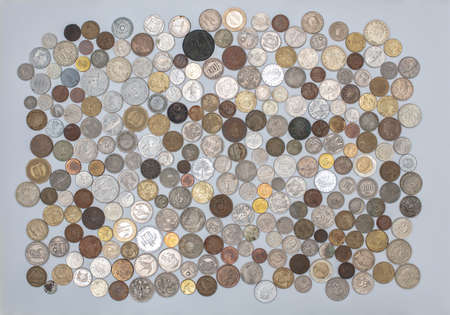 Currency, coins collection, old coins all over the world