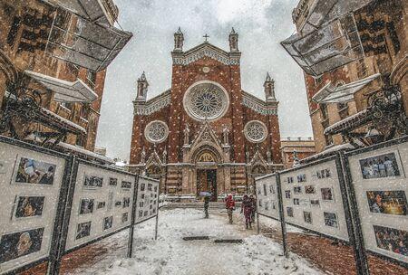 St. Antuan Church, alternatively known as the Sant'Antonio di Padova Church, is located in S. Antonio di Padova. Antoine in Istanbul, Turkey