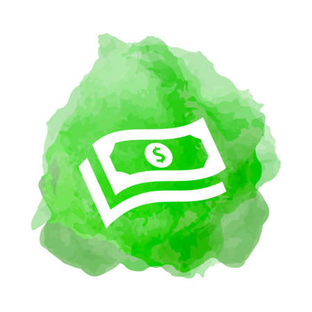Banknote, cash stack icon