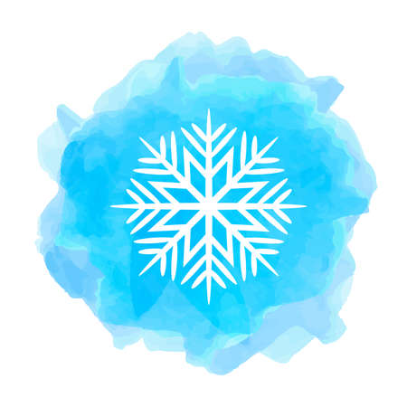 A snowflake icon isolated on white background