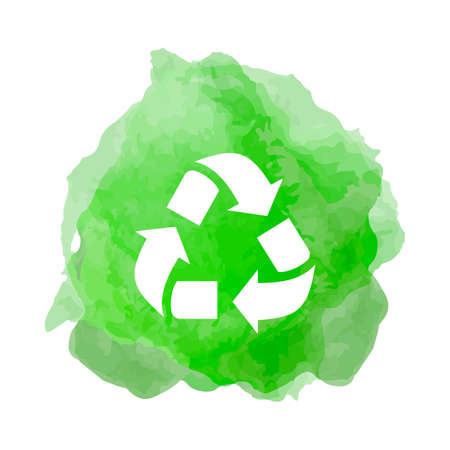 Recycling icon in greed smoke back drop