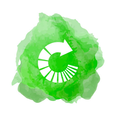 Recycling icon  in smoke back drop