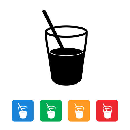 Juice flat icon set