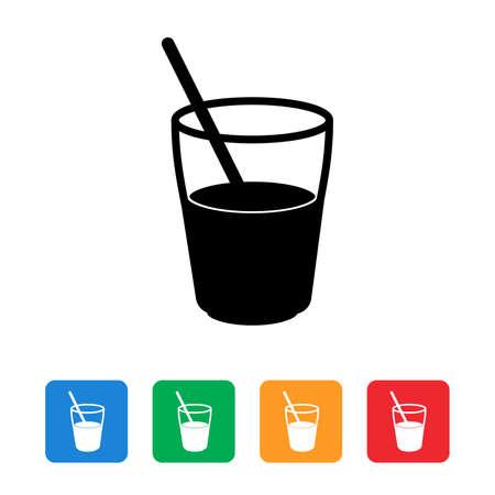 Juice flat icon set