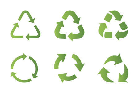 Recycling symbool pictogramserie