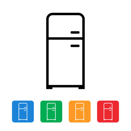 Fridge icon set Иллюстрация