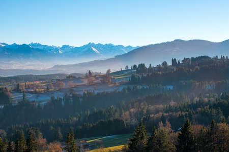 Autumn mood mountain panorama