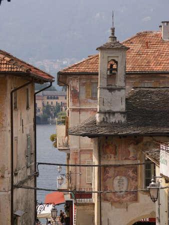 orta: City View Orta San Giulio, Lake Orta, Italy