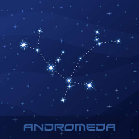Constellation Andromeda, Princess, night star sky