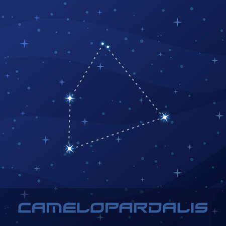Constellation Camelopardalis, Giraffe, night star sky
