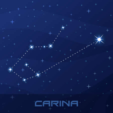 Constellation Carina, Keel, night star sky