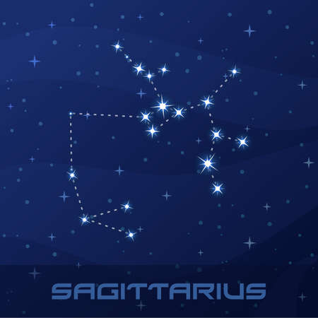 Constellation Sagittarius, Astrological sign Иллюстрация