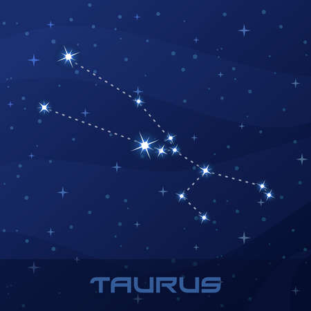 Constellation Taurus, Astrological sign Иллюстрация