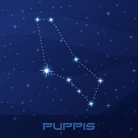 Constellation Puppis, Stern, night star sky