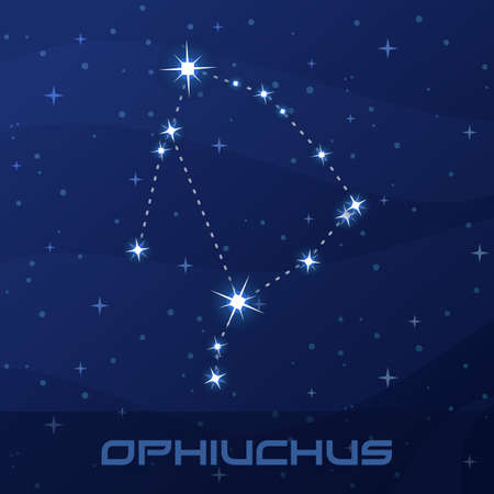 Constellation Ophiuchus, Serpent Holder Иллюстрация