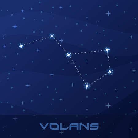 Constellation Volans, Flying Fish
