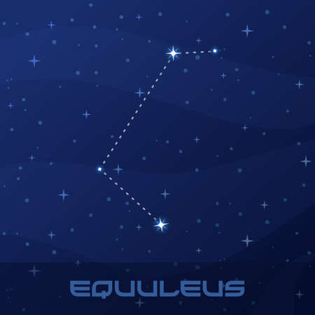 Constellation Equuleus, Little Horse Иллюстрация