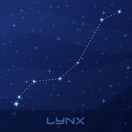 Constellation Lynx, night star sky