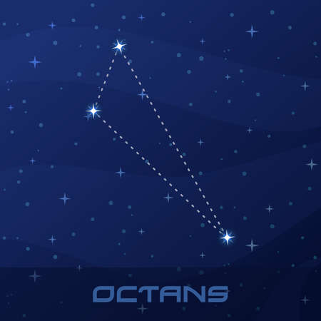 Constellation Octans, Octant, night star sky