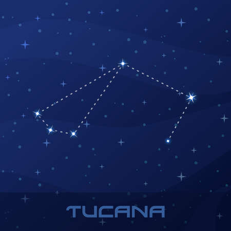 Constellation Tucana, Toucan, night star sky night star sky poster, flyer advertisement