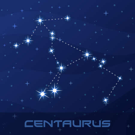 Constellation Centaurus, Centaur, night star sky