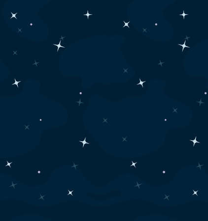 Space vector cartoon space background with stars
