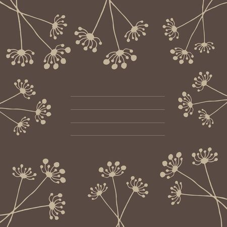 overblown: Dandeliopastel-brown cover with Dandelion patterns on Card